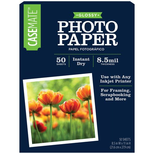 Casemate Photo Paper, Glossy, 8.5 x 11 inch, 50 sheets