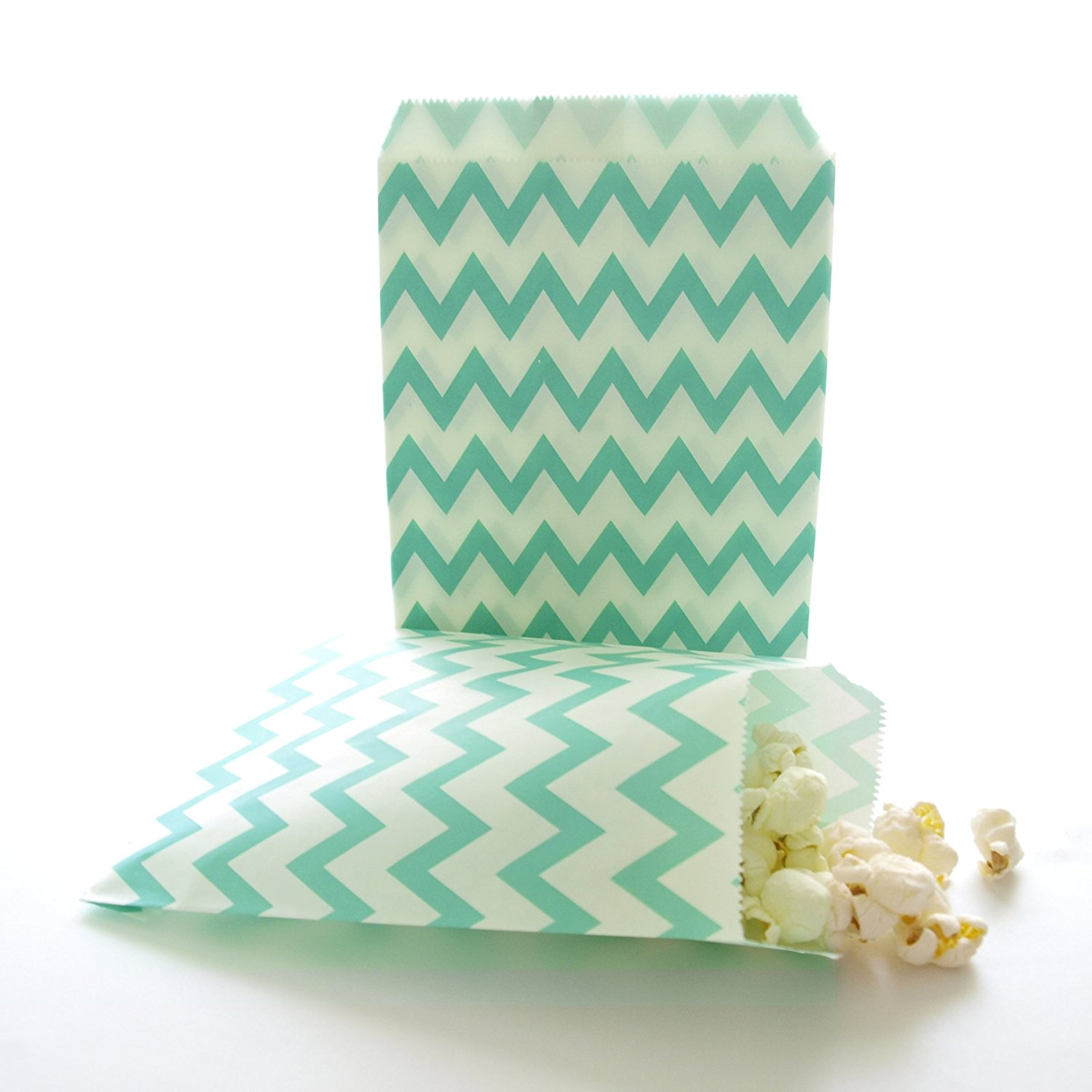 Teal Green Paper Candy Bags Kids Party Favor Small Birthday Goody And Gift Bag 75 Pack Striped Polka Dot Chevron Included In