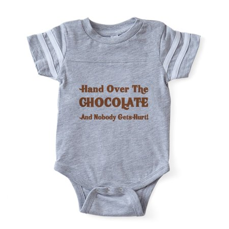 Infant Baby Chocolate (CafePress - Hand Over The Chocolate - Cute Infant Baby Football Bodysuit )