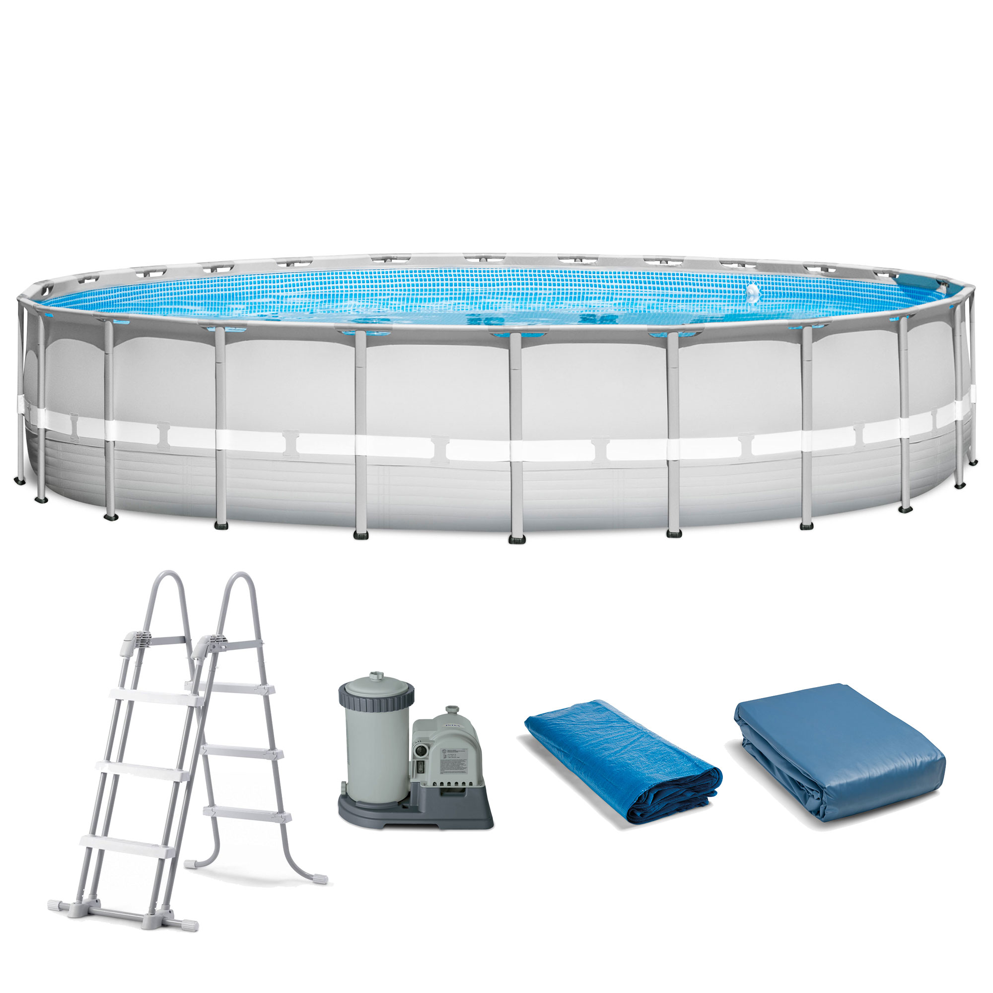 """Intex 22' x 52"""" Ultra Frame Above Ground Swimming Pool with Filter Pump by Above Ground Pools"""