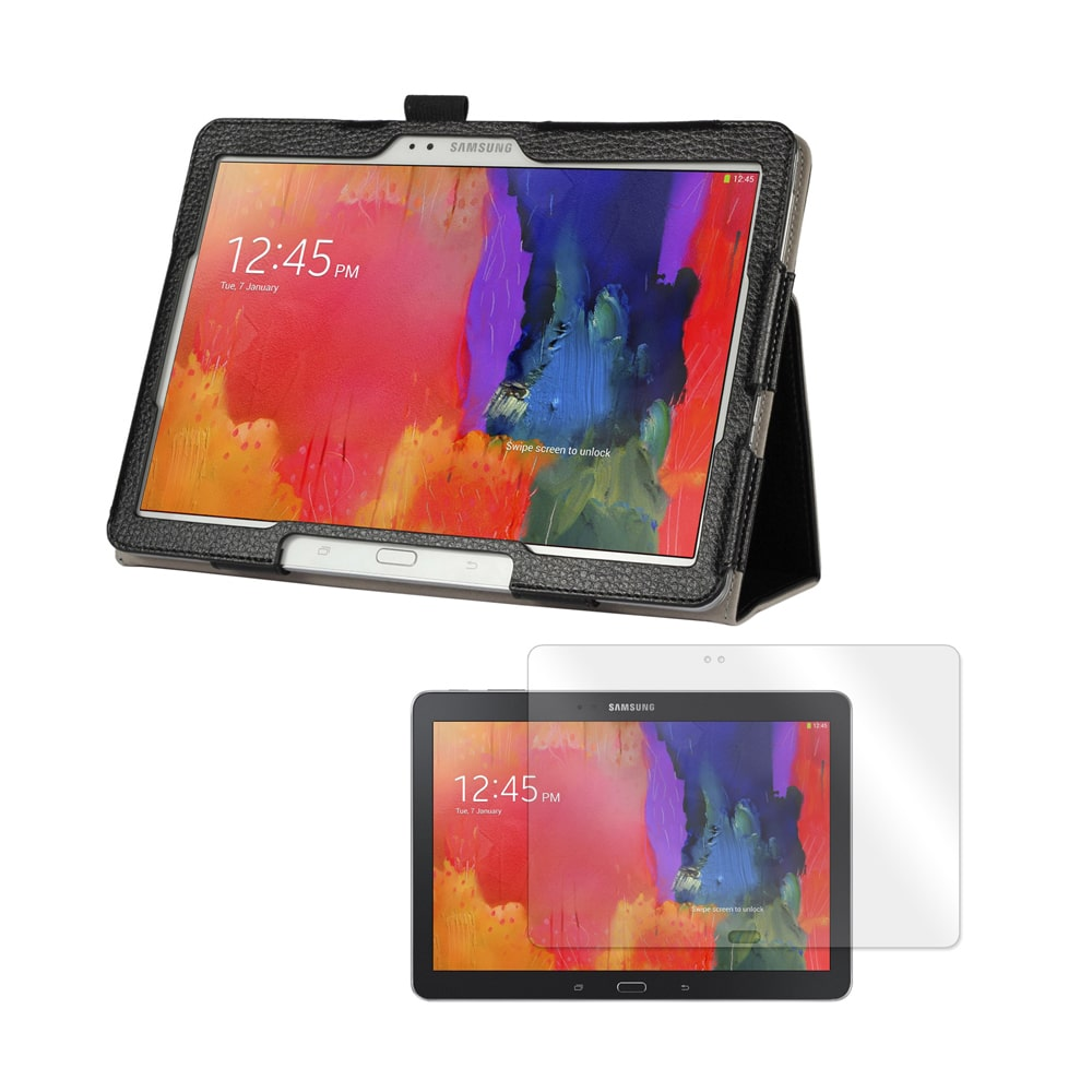"""Black Double-Fold Folio Case with Screen Protector for Samsung Galaxy Tab Pro 10.1"""" Tablet"""