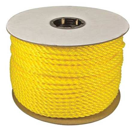 Rope,600ft,Yllw,582lb.,Polyprpylne G0376769