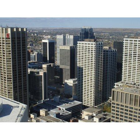 LAMINATED POSTER Alberta City Cityscape Calgary Canada Architecture Poster Print 24 x 36](Halloween City Calgary)