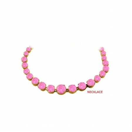 UBUNKBK7205AGVYPS September Birthstone Pink Sapphire Graduated Bead Necklace 18K Yellow Gold Vermeil 30 CT - Pink Sapphire Yellow Necklace