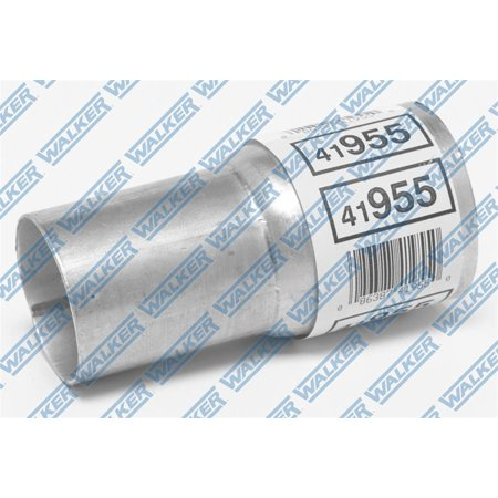 Dynomax 41946 Exhaust Pipe Adapter; Inlet Size (IN) - 1-3/4 Inch, Outlet Size (IN) - 2 Inch, Length (IN) - 5-3/8 Inch, Finish - Satin, Material - Aluminized Steel - image 2 de 2