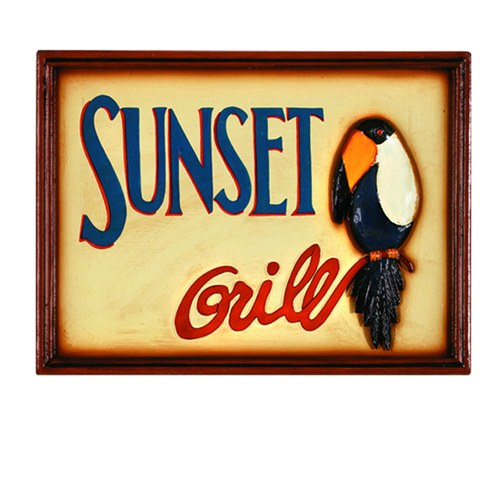 RAM Game Room Outdoor Wall Decor - Sunset Grill