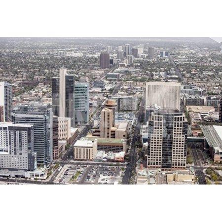 Aerial View of Downtown Phoenix, Arizona Print Wall Art By Wollwerth Imagery - Walmart.com