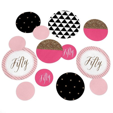Chic 50th Birthday - Party Table Confetti Set - 27 Count](50th Birthday Party Themes For Her)