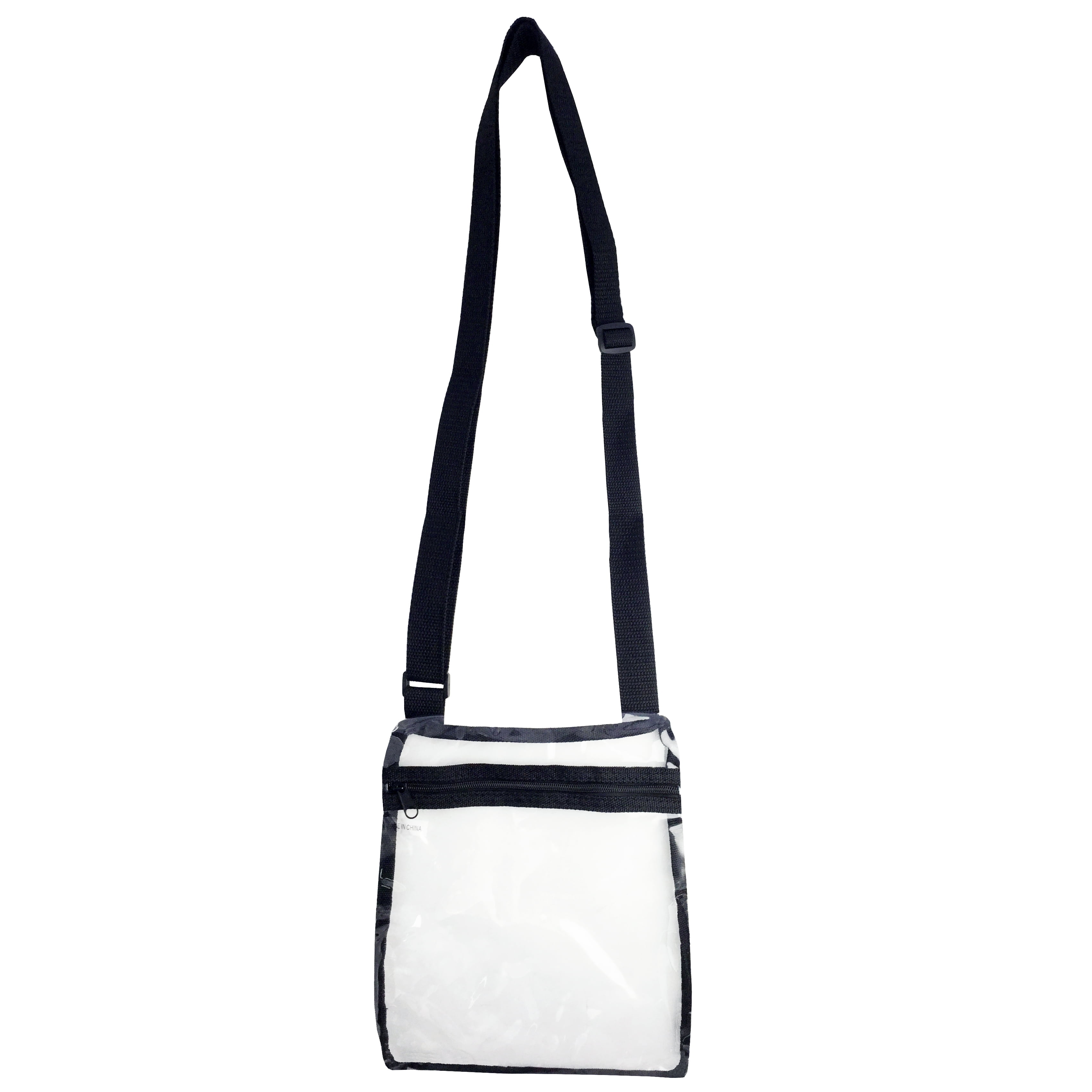 67d4d914eb37 Clear Cross Body Bag See-Thru Jelly Messenger Purse Stadium Concert  Transparent