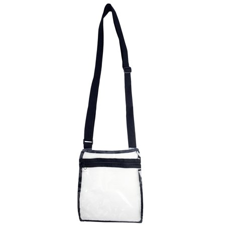 Clear Cross Body Bag See-Thru Jelly Messenger Purse Stadium Concert - Wool Cross Body