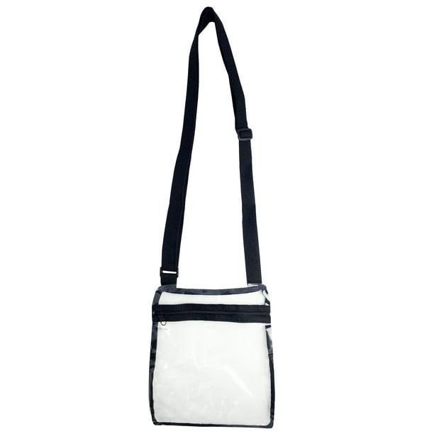 Adjustable See-Thru Stadium Approved Transparent Purse Clear Messenger Bag