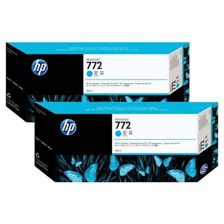 HP 772 High Yield Cyan Original Ink Cartridge (CN636A)(2-Pack)