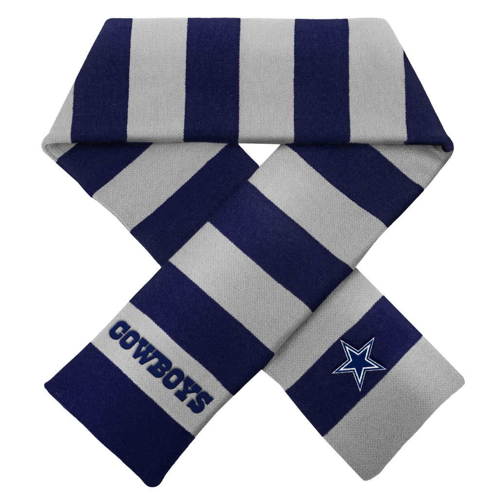 Dallas Cowboys Official NFL Adult One Size Striped Rugby Scarf by Forever Collectibles