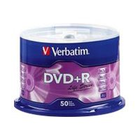 Verbatim DVD+R 4.7GB 16X Life Series with Branded Surface - 50pk