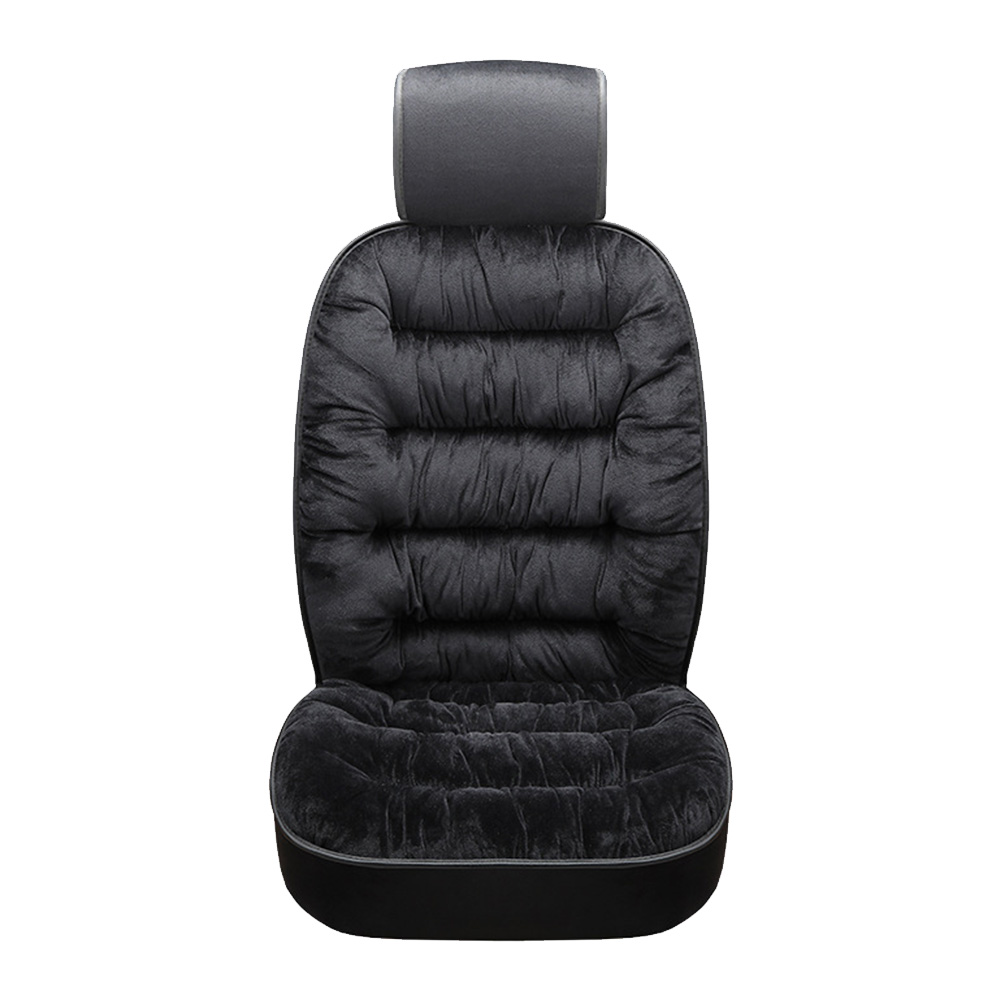 Seat Pad Car Seat Cushion Seat Protector for Car Soft Seat Cushion Car Seat Cushion with Backrest Thickened Plush Car Seat Cushion Beige,Single Seat Cushion