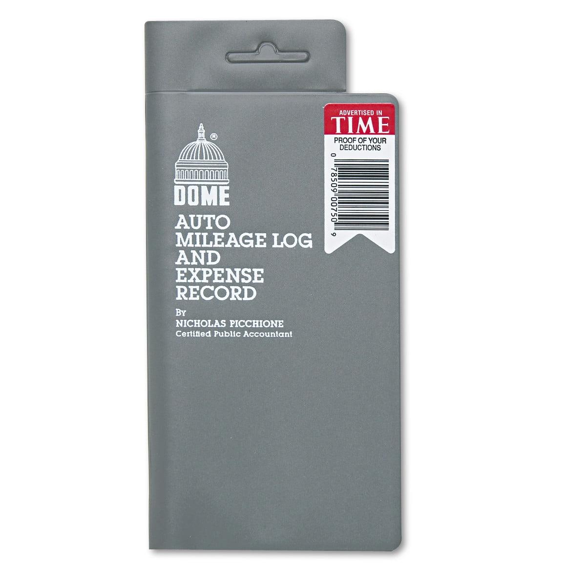 Dome Auto Mileage Log/Expense Record, 3 1/2 x 6 1/2, 140-Page Book ...