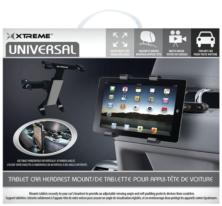 Xtreme XT-59401 Universal Tablet Headrest Mount (Black)