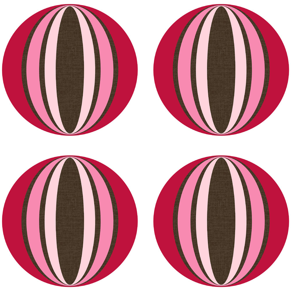 Brewster Home Fashions 12505261 Loopy Dots Red Pink Geometric Wall Accent Stickers