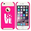 For Apple (iPhone 8) Shockproof Impact Hard Soft Case Cover LOVE Soccer (Hot Pink-White) For Apple (iPhone 8) Shockproof Impact Hard Soft Case Cover LOVE Soccer (Hot Pink-White)