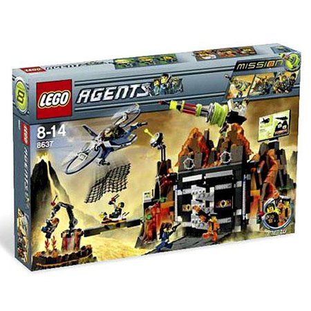LEGO Agents Mission 8: Volcano Base Exclusive Set #8637 ...