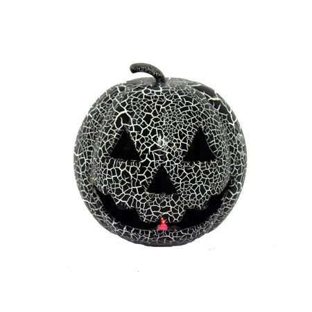 Crackle Black Light Up Pumpkin Halloween Dcor](Halloween Pumpkins Carved)