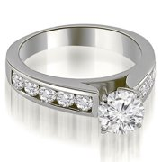 1.50 CT.TW Cathedral Channel Round Cut Diamond Engagement Ring in 14K White, Yellow Or Rose Gold
