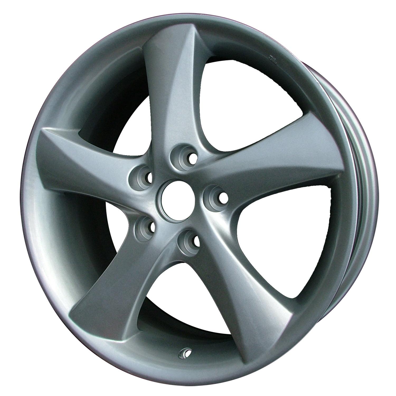 2003-2007 Mazda 6  17x7 Aluminum Alloy Wheel, Rim Bright Silver Full Face Painted - 64857
