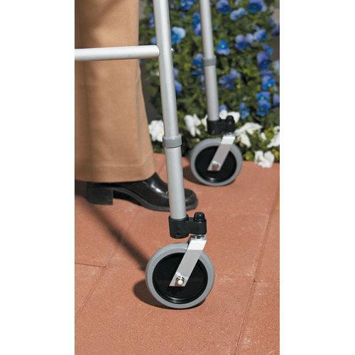 Medline Swivel Caster with Foot Piece Set