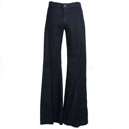Ralph Lauren Woven Jeans - RALPH LAUREN Womens Navy Flare Jeans  Size: 28 Waist