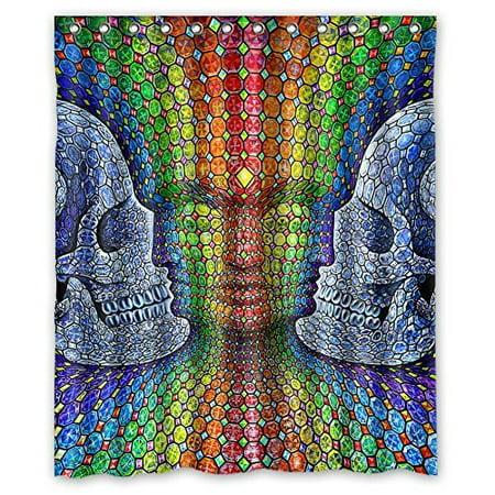 DEYOU Cartoon Alex Grey Art Shower Curtain Polyester Fabric Bathroom Size 60x72 Inches