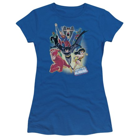justice league unlimited juniors short sleeve shirt