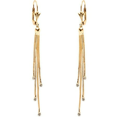 Swarovski Elements 18kt Gold-Plated Dangling Earrings