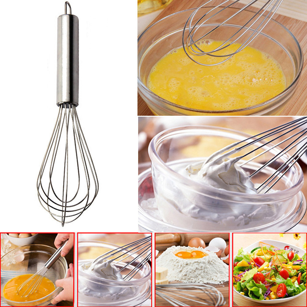 Outtop Stainless Steel Hand Whisk Mixer Balloon Egg Milk Beater Kitchen Cooking Tool