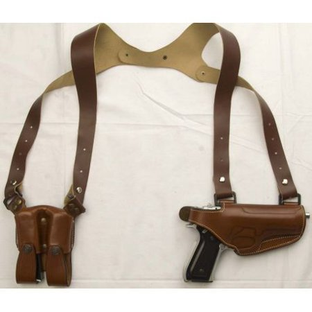Hand 1911 Leather - Cebeci Arms 1911 and All Clones Unisex Leather Horizontal Shoulder Holster, Blac