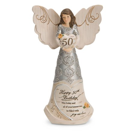Pavilion Gift Company Elements 82414 50Th Birthday Angel Holding Heart