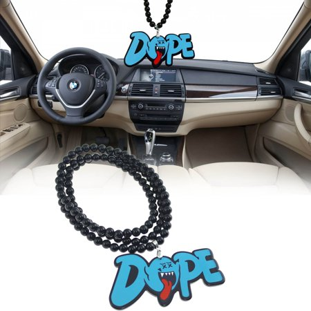 (Xotic Tech Rearview Mirror Hanging Charm Dangling Beaded Pendant For Car Decoration-Mario Ghost Dope Tongue)