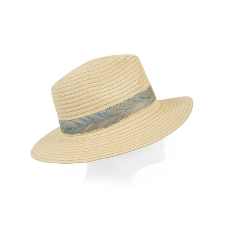 Eliza May Rose Women's Palm Straw Fedora (Real Fedora)