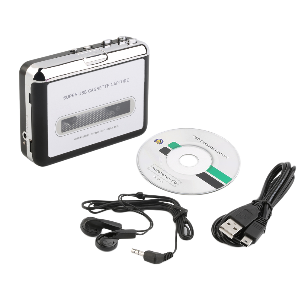 USB Cassette capture Player Tape To PC Super Portable USB Cassette-to-MP3 Converter Capture Audio Music Player