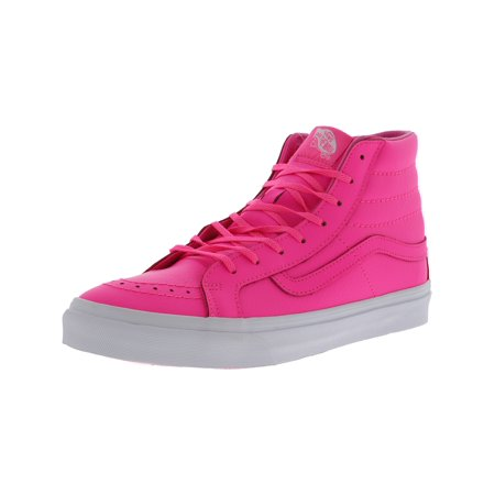 2b025ed8ce9f50 Vans Sk8-Hi Slim Neon Leather Pink High-Top Skateboarding Shoe - 7.5 ...