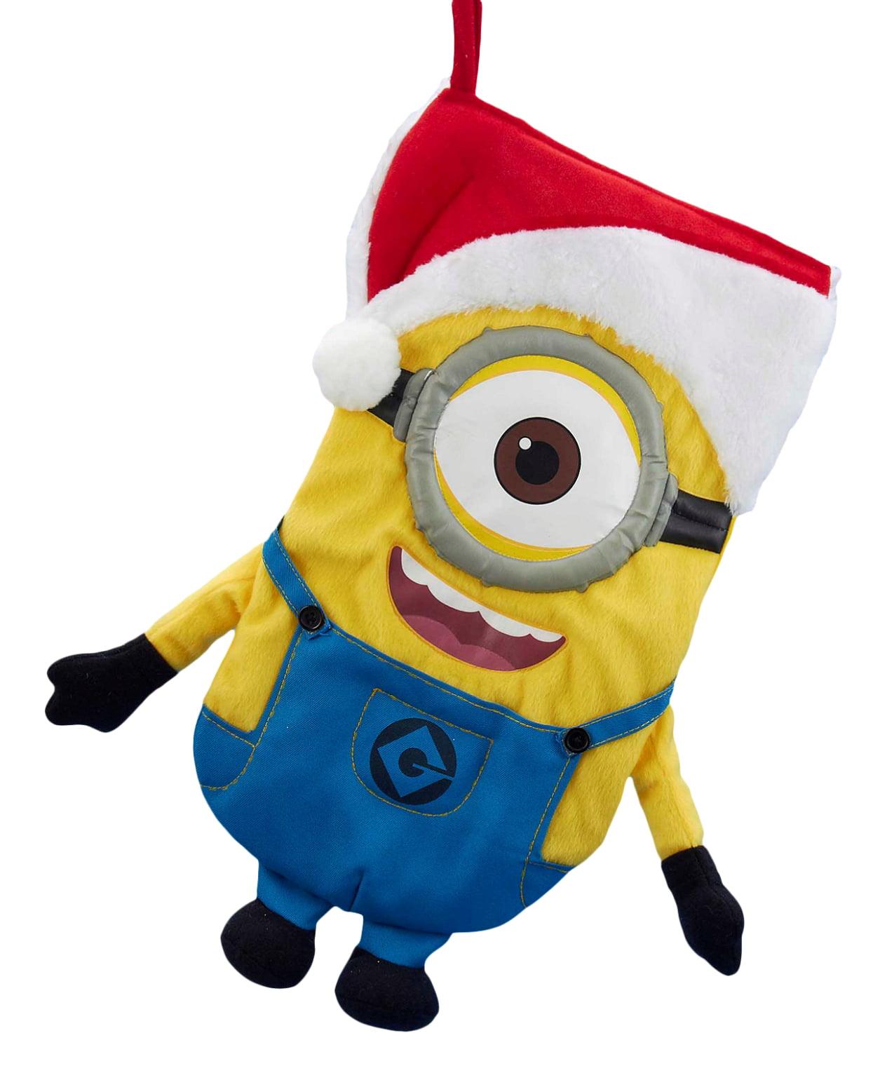 Despicable Me Stuart The Minion With Santa Hat Plush Christmas