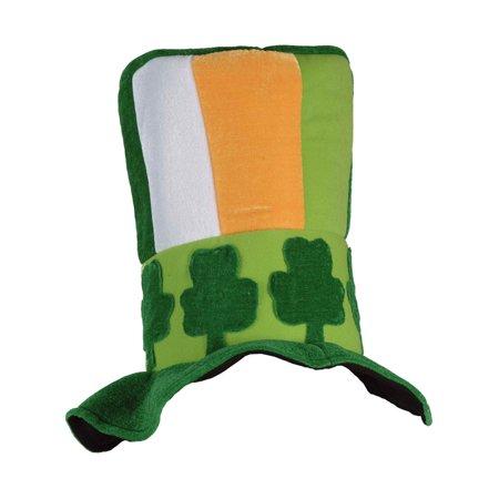 Irish Top Hat (Adults Irish St. Patrick's Day Top Hat With Shamrock Band Costume)