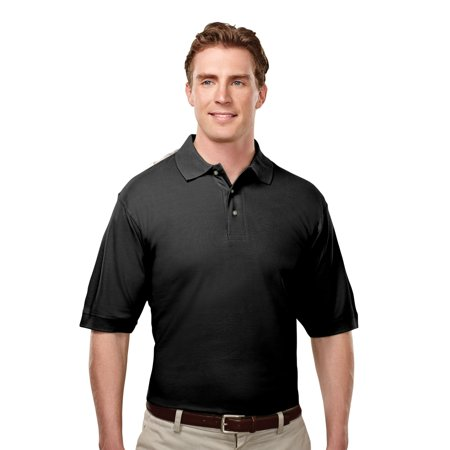 Block Pique (Tri-Mountain Caliber 188 Cotton Pique Golf Shirt, 2X-Large, Black )
