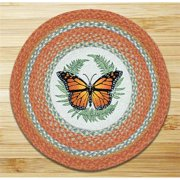 "Earth Rugs RP-382 Monarch Round Patch 27"" x 27"""