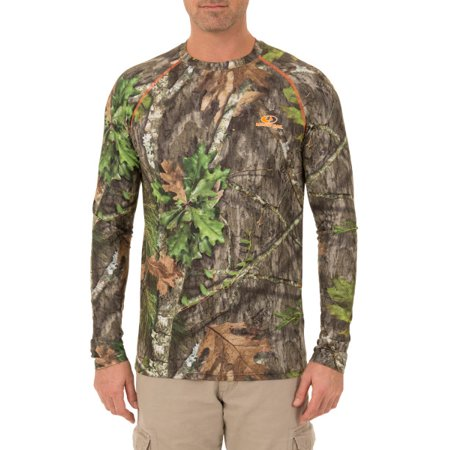 f32524e0b09dc Mossy Oak Men's Insect Repellent Performance Long Sleeve Tee - Walmart.com