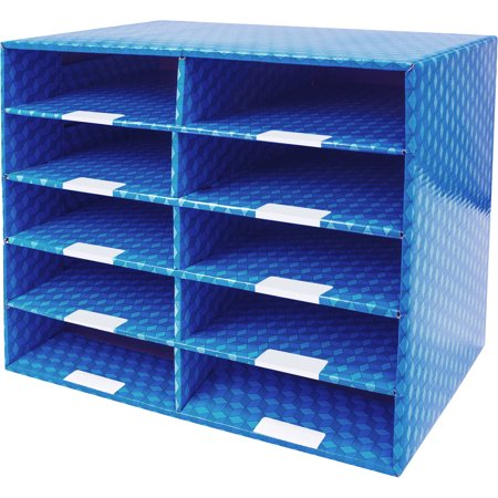 Corrugated Mailroom Sorter with 10, 15, or 30 Compartments