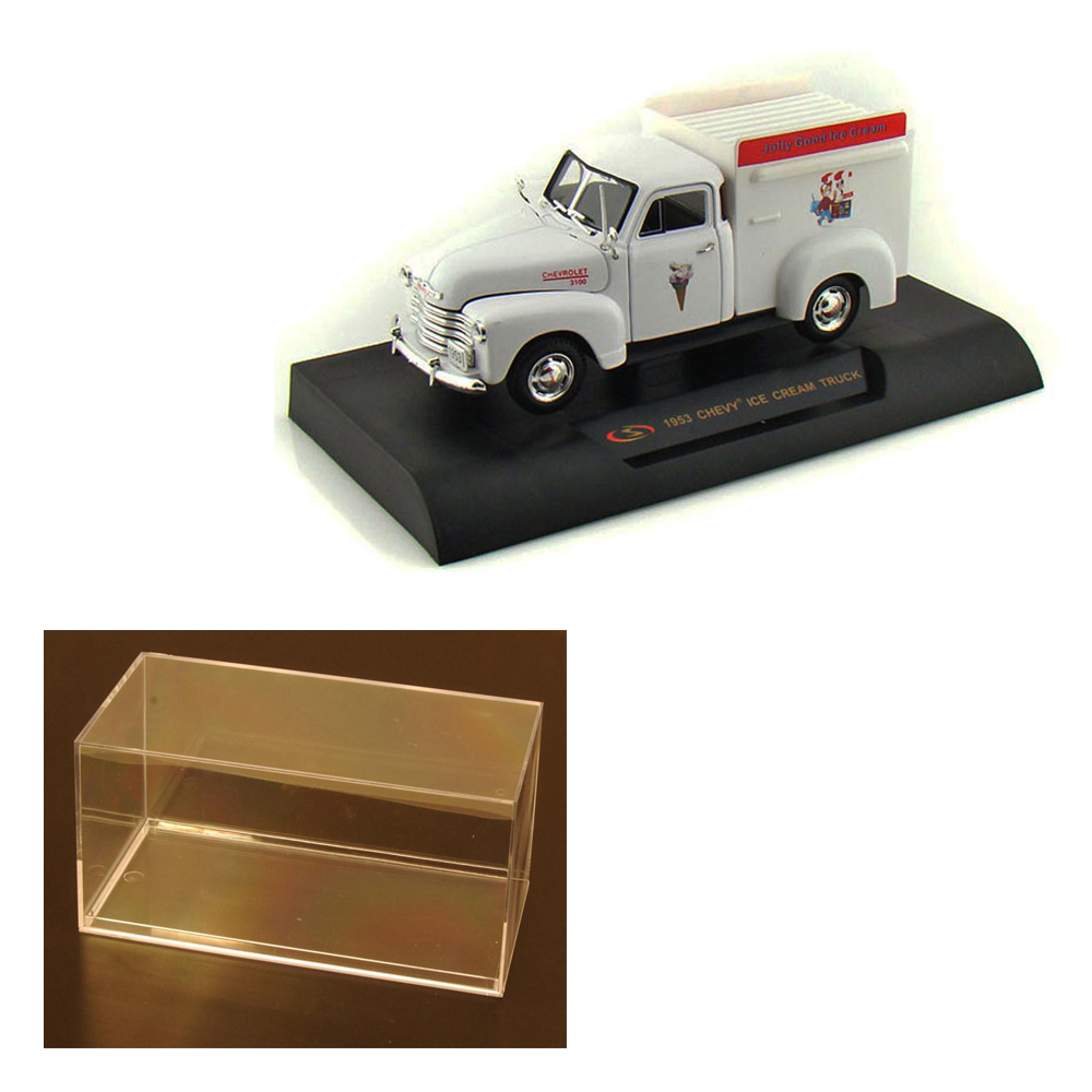 diecast car \u0026 accessory package 1953 chevy ice cream truck, white signature models 32396 1 32 scale diecast model toy car w display case Barbie Toy Jeep Grand Cherokee