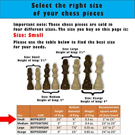 Staunton Chess Pieces by GrowUpSmart with Extra Queens | Size: Small - King Height: 2.5 inch | Wood - image 2 of 4