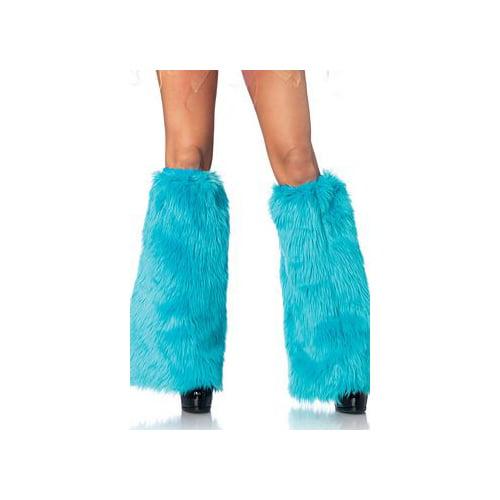 Leg Avenue Turquoise Furry Leg Warmers 3934LEG_T Turquoise