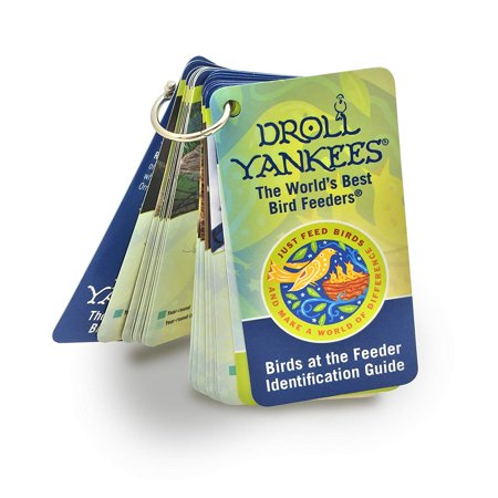 Just Feed Birds at The Feeder Identification Guide, Durable, Glossy Pages with Silver metal ring Clasp By Droll Yankees