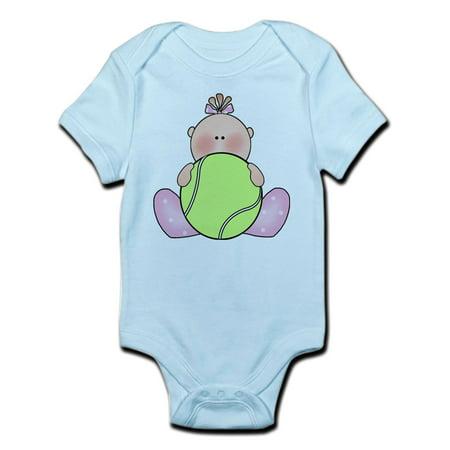 CafePress - Lil Tennis Baby Girl Infant Bodysuit - Baby Light Bodysuit (Baby Sh)
